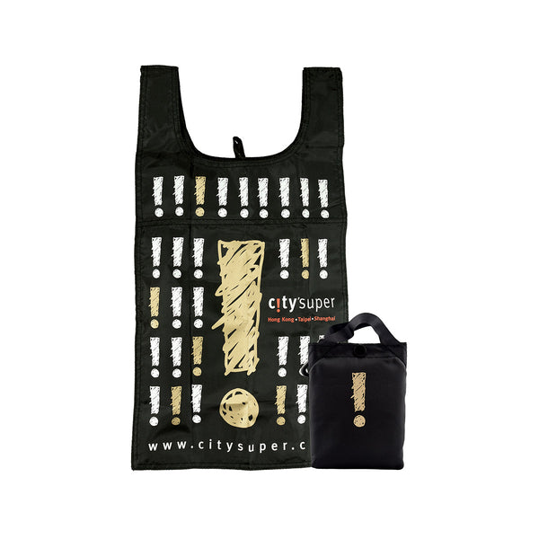 CITYSUPER Sketch Pattern Environmental Pocketable Bag - Gold/Black