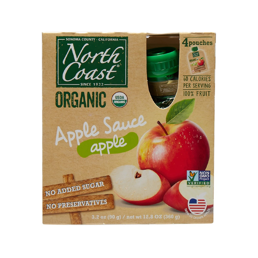 NORTH COAST Organic Apple Sauce  (4 x 90g)