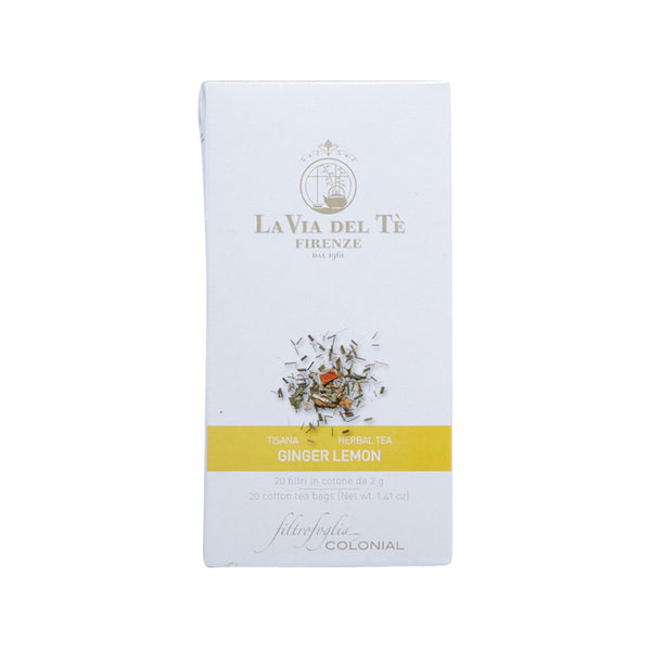 LA VIA DEL TE Ginger Lemon Flavor Herbal Tea Bag  (40g)