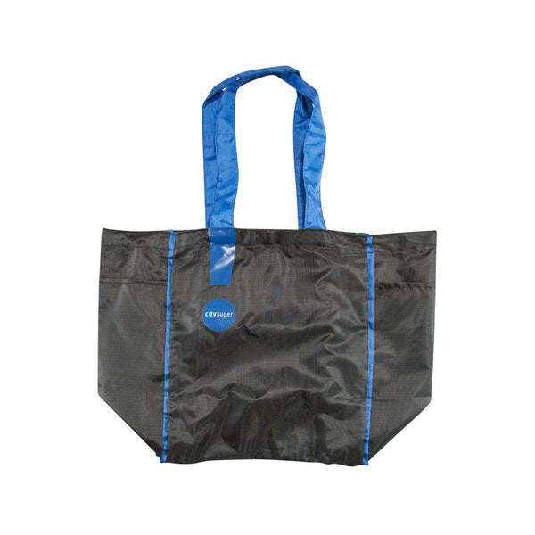 CITYSUPER Ripstop Foldable Environmental Bag-Black/Navy