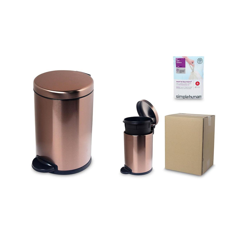 SIMPLEHUMAN 4.5L RD Step Can-SS Rose Gold