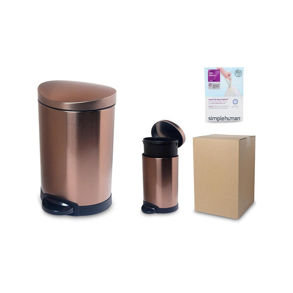SIMPLEHUMAN 6L Semi-RD Can-SS-Rose Gold