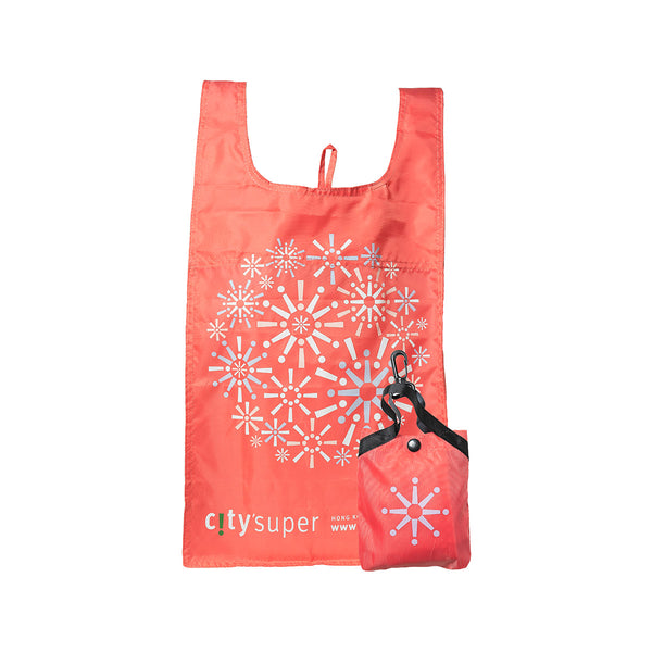 CITYSUPER Firework Pattern Environmental Pocketable Bag-Coral Pink