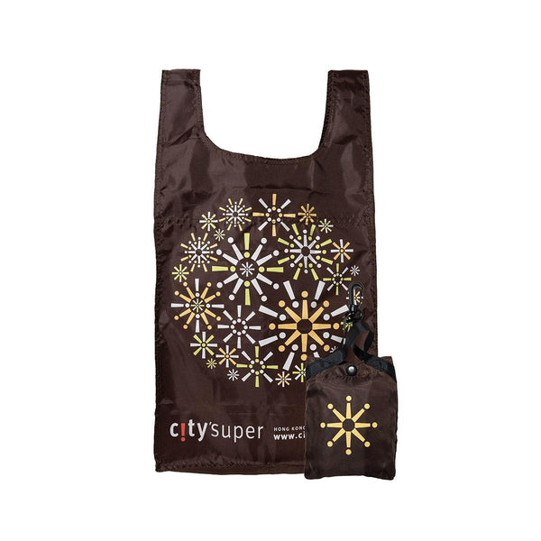 CITYSUPER Firework Pattern Environmental Pocketable Bag-Brown