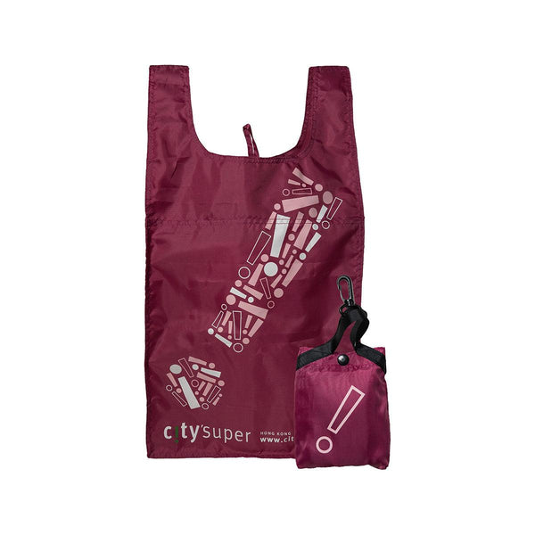 "CITYSUPER ""!"" Graphic Environmental Pocketable Bag-Mauve"