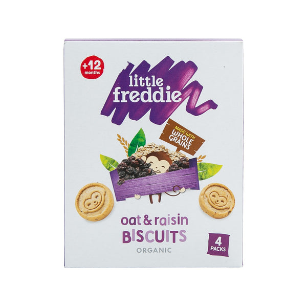 LITTLE FREDDIE Organic Oat & Raisin Biscuit (12+ Months)  (80g)