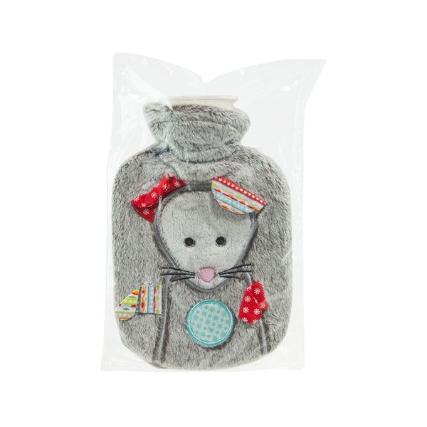 FASHY Hot Water Bottle 0.8L -Velour-Mouse