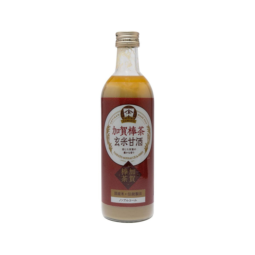 YAMATO Brown Rice Amazake Drink - Kaga Stem Tea  (490mL)