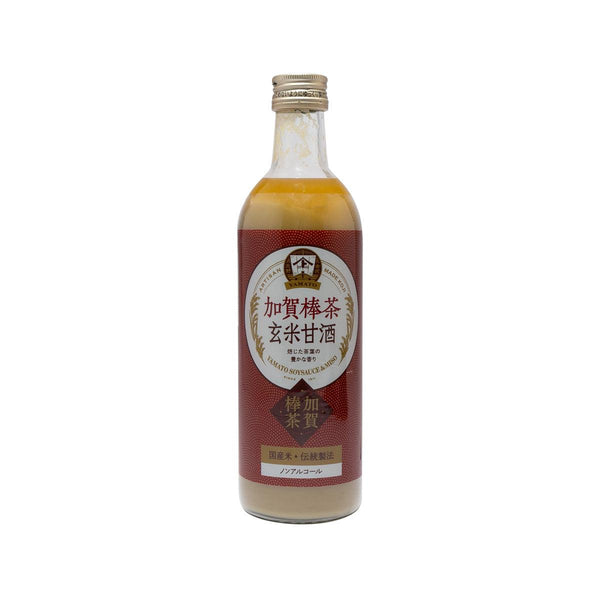 YAMATO Brown Rice Amazake Drink - Kaga Stem Tea (Non-alcoholic) (490mL)