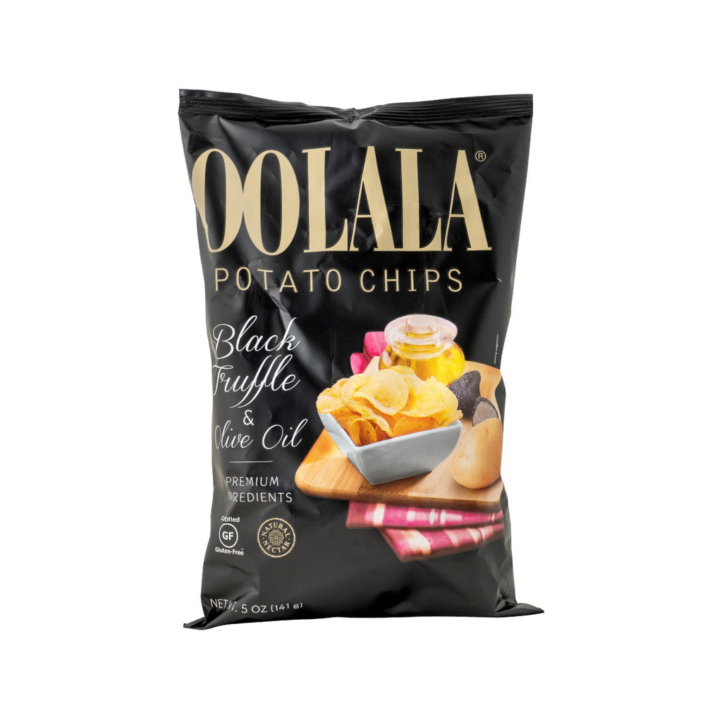 OOLALA Potato Chips - Black Truffle & Olive Oil  (141g)
