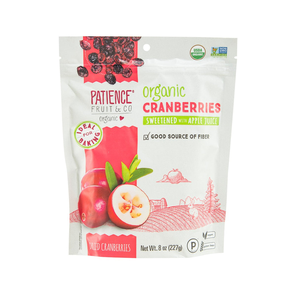 PATIENCE FRUIT&CO Organic Dried Cranberries  (227g)