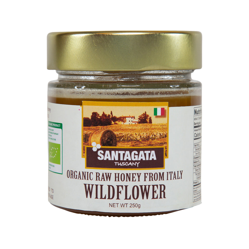 SANT' AGATA Organic Raw Wildflower Honey  (250g)