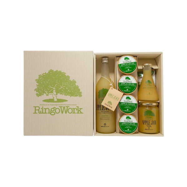 RINGOWORK Gift Set (Apple Juice, Apple Vinaigrette, Apple Jam, Apple Jelly Drink)  (720mL+180mL+400g+4x130mL)