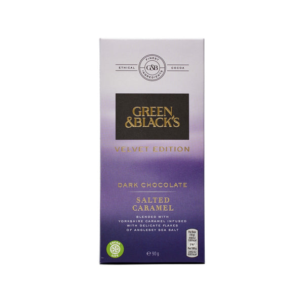 GREEN & BLACK'S Velvet Edition - Dark Chocolate With Salted Caramel  (90g)