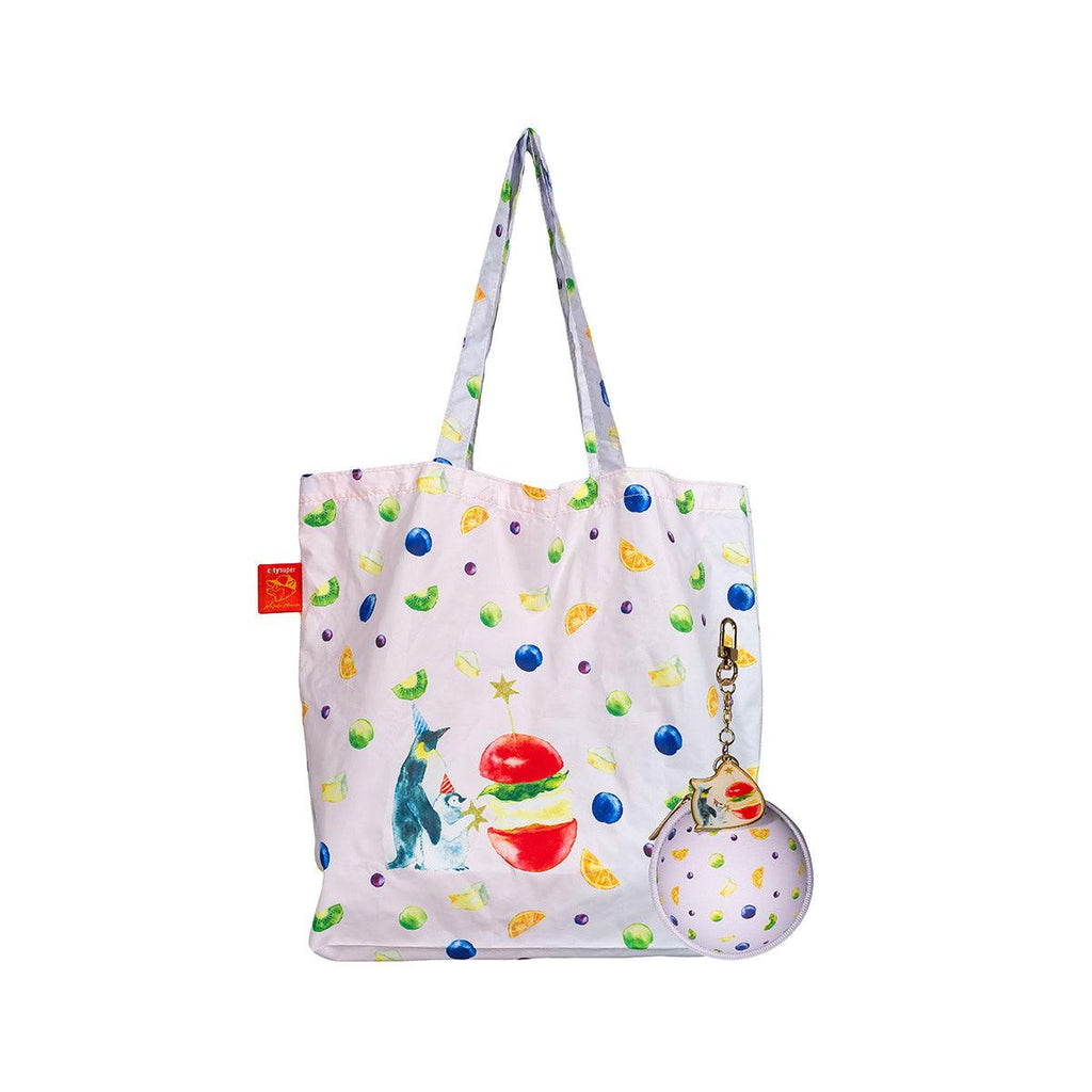 "CITYSUPER X MURATA ""Happy Party"" Ball-Shaped Foldable EV bag-Penguin"