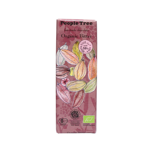 PEOPLETREE Fair Trade Chocolate - Organic Bitter (50g)