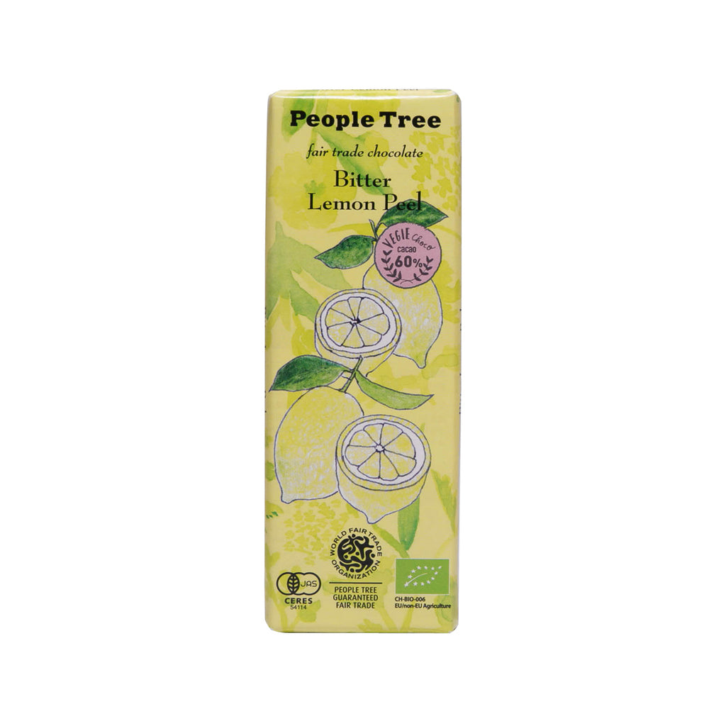 PEOPLETREE Fair Trade Chocolate - Bitter Lemon Peel  (50g)