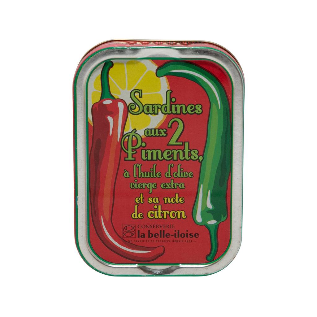 LA BELLE-ILOISE Sardine In Extra Virgin Olive Oil With Pepper & Lemon  (115g)