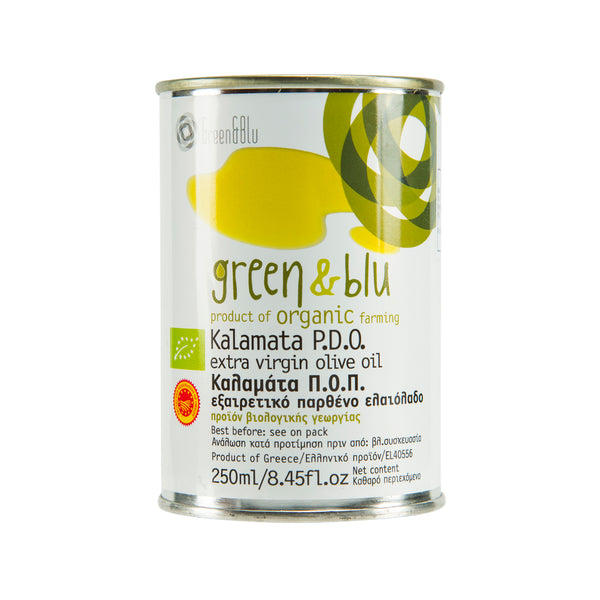 GREEN & BLU Organic Kalamata Extra Virgin Olive Oil [Tin]  (250mL)