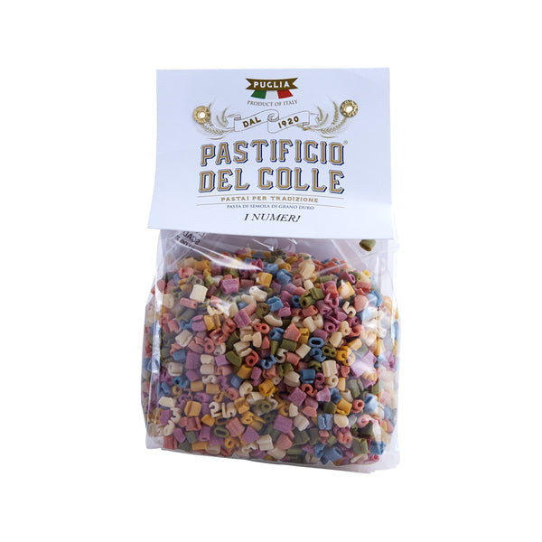 PASTIFICIO DEL COLLE Colorful Pasta - Number Shaped  (500g)