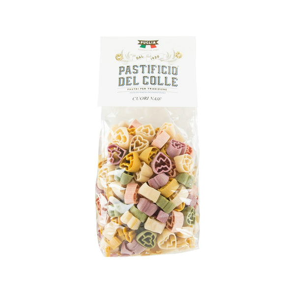 PASTIFICIO DEL COLLE Colorful Pasta - Heart Shaped  (500g)