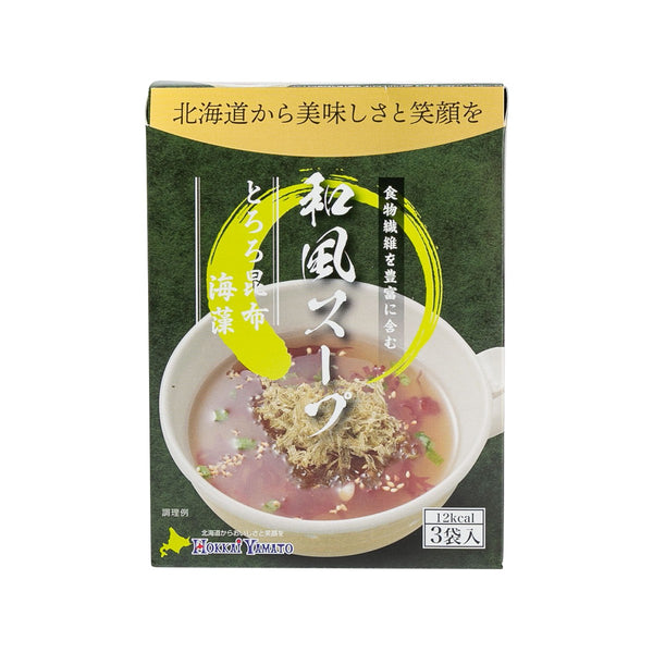 HOKKAIYAMATO Japanese Style Clear Soup - Tororo Seaweed & Red Irish Moss (15.6g)