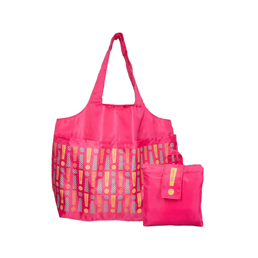 CITYSUPER Foldable Environmental Bag With Printed Pockets (L) - Fuschia