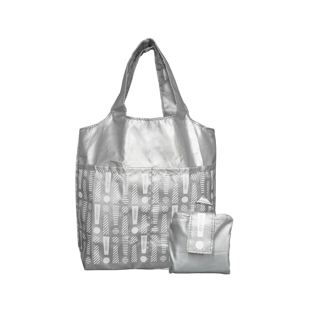 CITYSUPER Foldable Environmental Bag With Printed Pockets (S) - Silver
