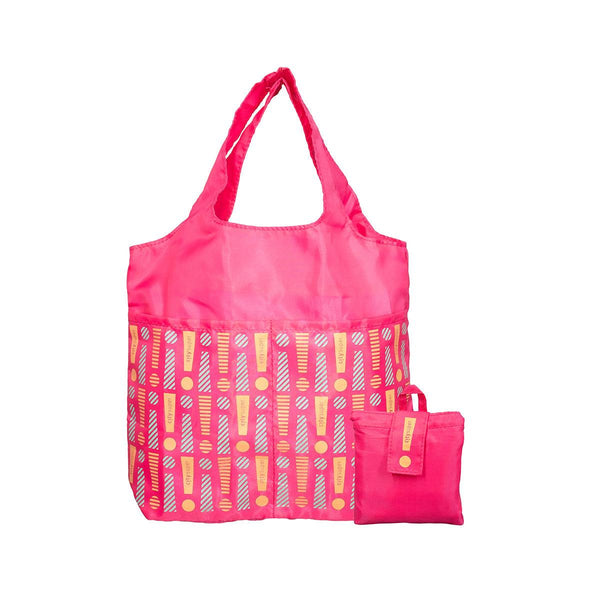 CITYSUPER Foldable Environmental Bag With Printed Pockets (S) - Fuschia