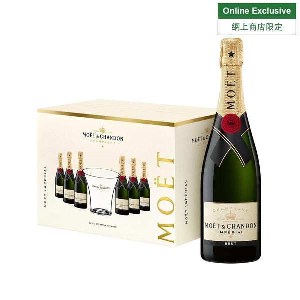 MOET&CHANDON Imperial Brut Pack of 6 bottles w/ Ice Bucket NV (6 x 750mL)