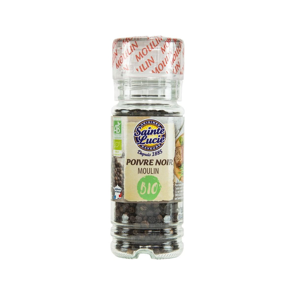 SAINTE LUCIE Organic Black Peppercorn with Mill  (50g)