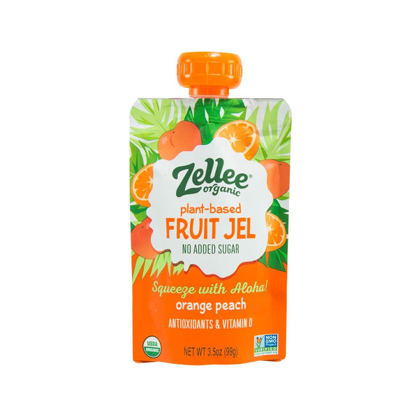 ZELLEE Organic Fruit Jel - Orange Peach  (99g)