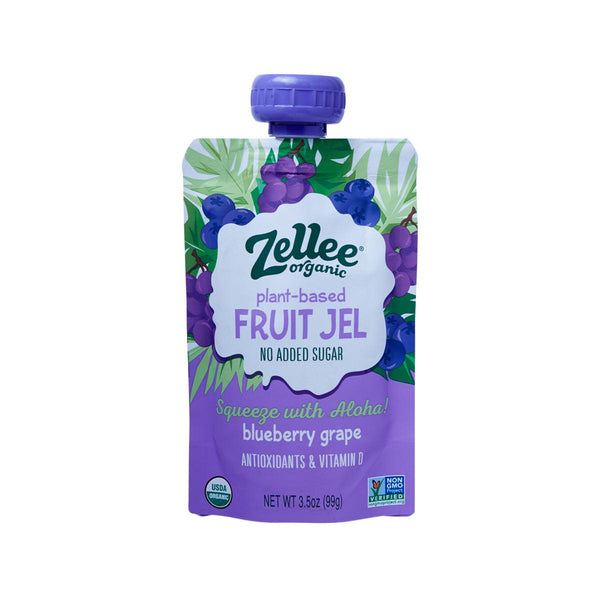 ZELLEE Organic Fruit Jel - Blueberry Grape  (99g)