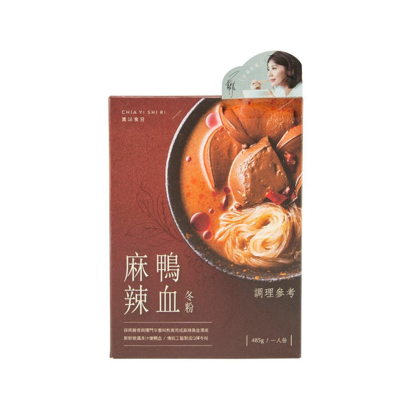 CHIAYISHIRI Mala Chili Soup Duck Blood Glass Noodles  (485g)