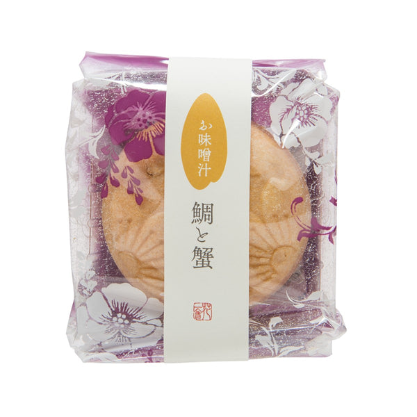 HANAICHIE Instant Miso Soup In Rice Wafer - Sea Bream & Crab  (9g)