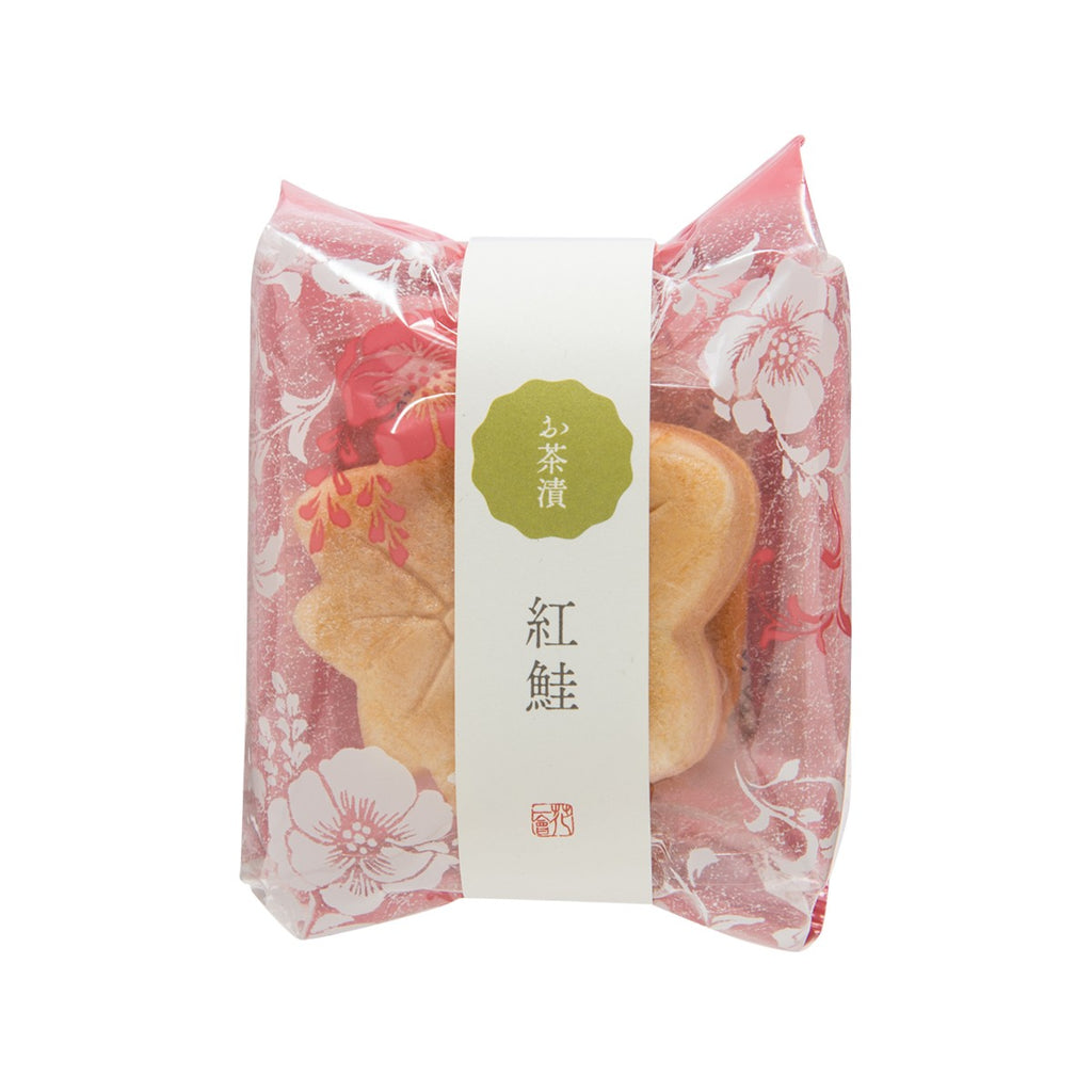 HANAICHIE Instant Ochazuke Topping In Rice Wafer - Red Salmon  (11g)