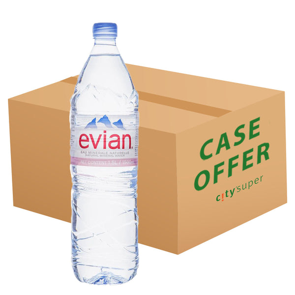 EVIAN Natural Mineral Water  (6 x 1.5L)