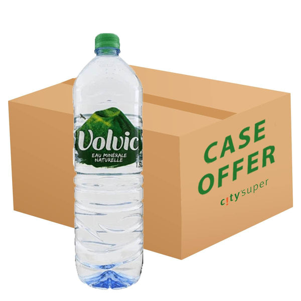 VOLVIC Natural Mineral Water  (6 x 1.5L)