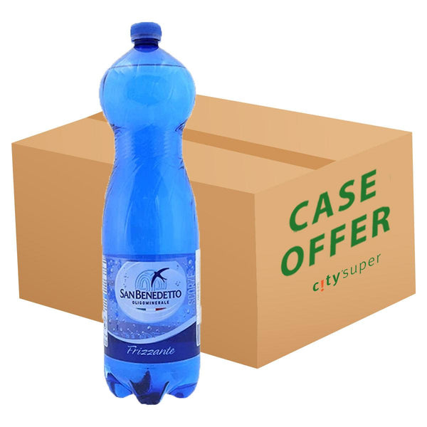 SAN BENEDETTO Sparkling Natural Mineral Water  (6 x 1.5L)