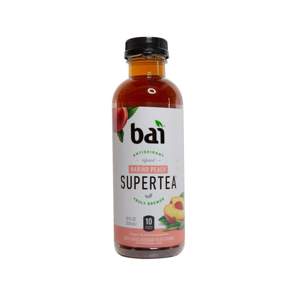 BAI Antioxidant Infused SuperTea - Narino Peach Flavor  (530mL)