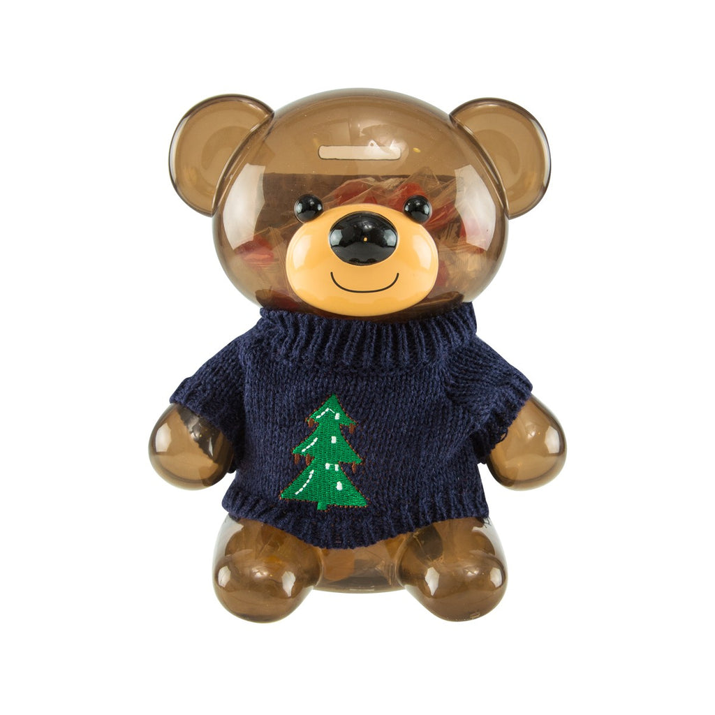 EUREKA X'mas Bear Coin Bank With Candy  (115g)