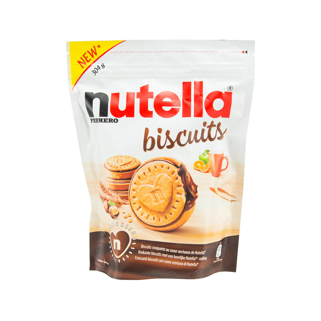NUTELLA Crunchy Biscuits with Hazelnut Cocoa Spread  (304g)