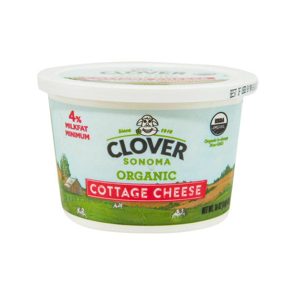 CLOVER Organic Cottage Cheese - 4% Milk Fat Minimum  (453g)