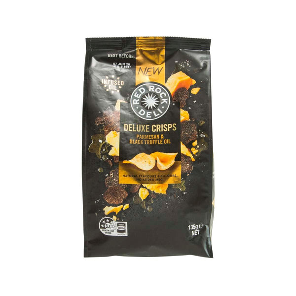 RED ROCK DELI Deluxe Crisps - Parmesan & Black Truffle Oil  (135g)