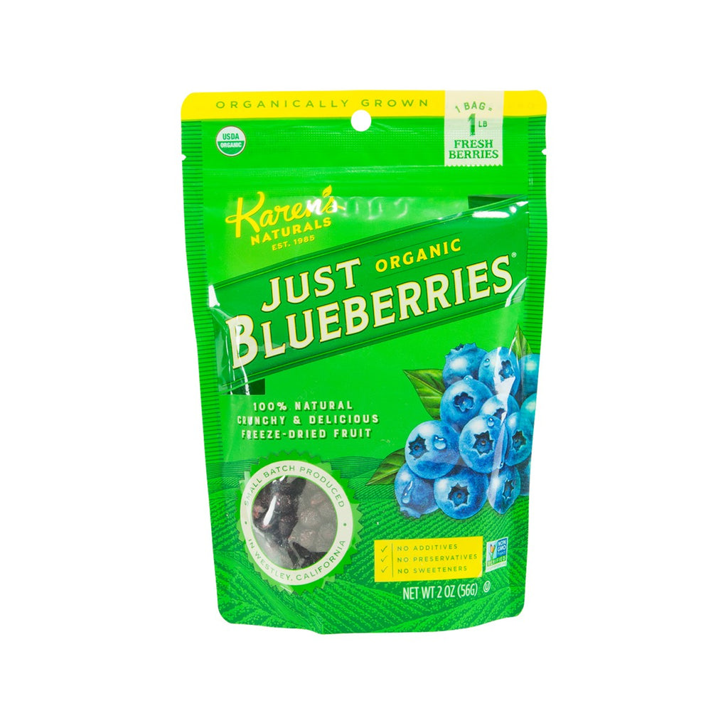 KAREN'S NATURALS Freeze Dried Organic Blueberries  (56g)