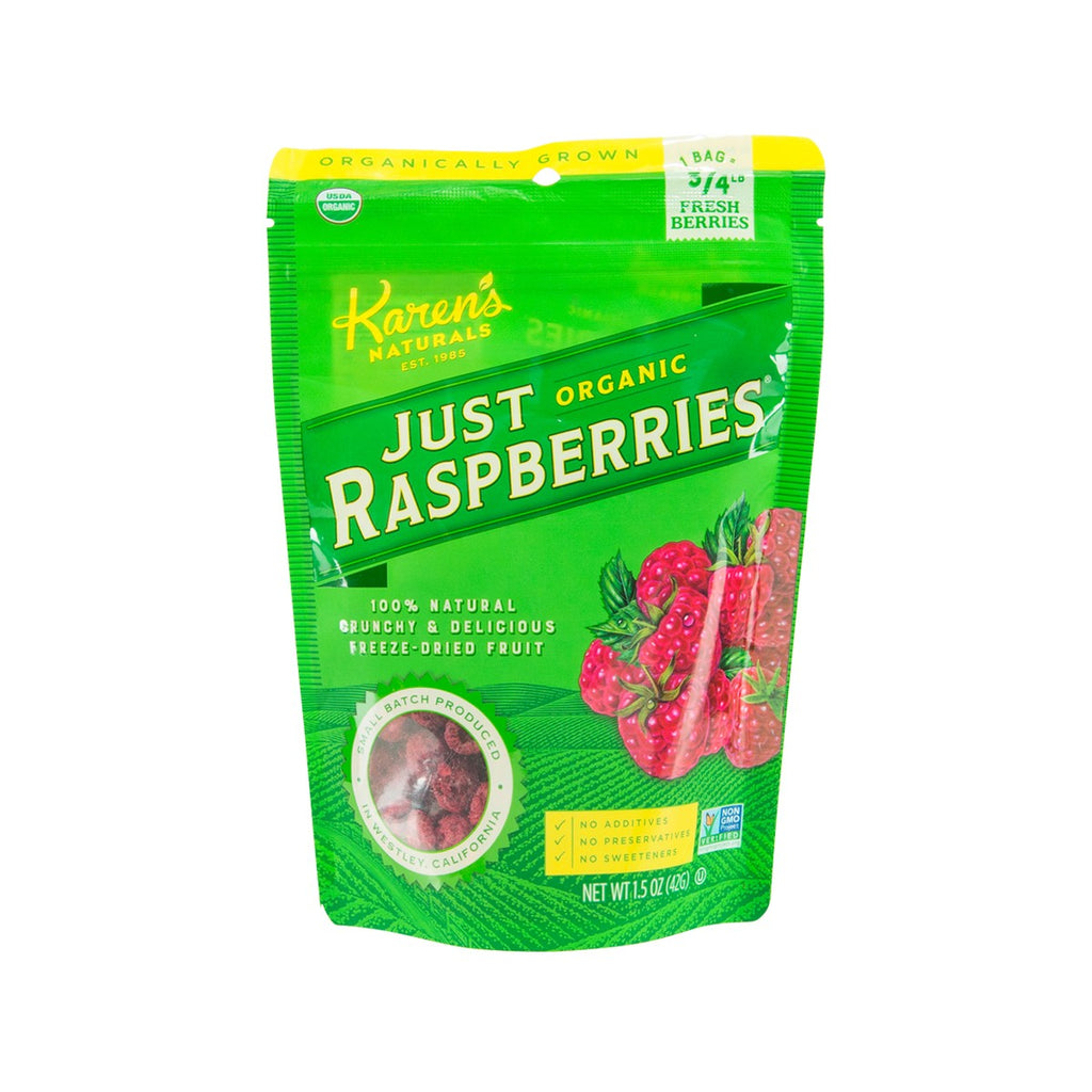 KAREN'S NATURALS Freeze Dried Organic Raspberries  (42g)