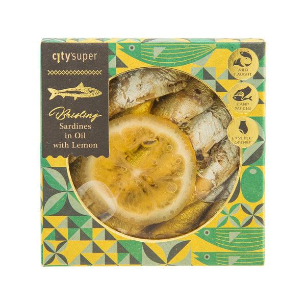 CITYSUPER Brisling Sardines with Lemon in Oil  (120g)