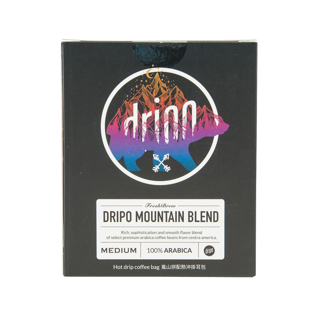 DRIPO Mountain Blend Hot Drip Coffee Bag  (10 x 10g)