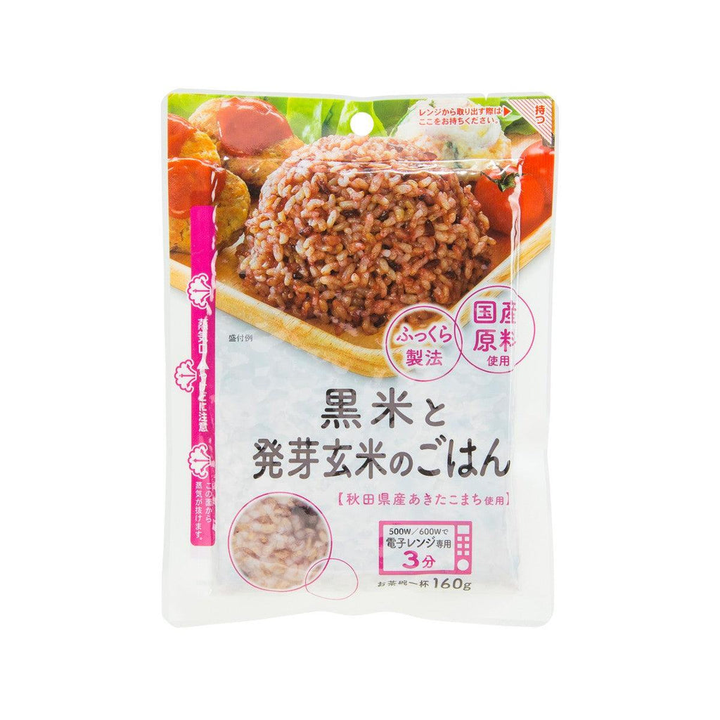 AKITAKOMACHI Instant Germinated Brown Rice with Black Rice - for Microwave Use  (160g)