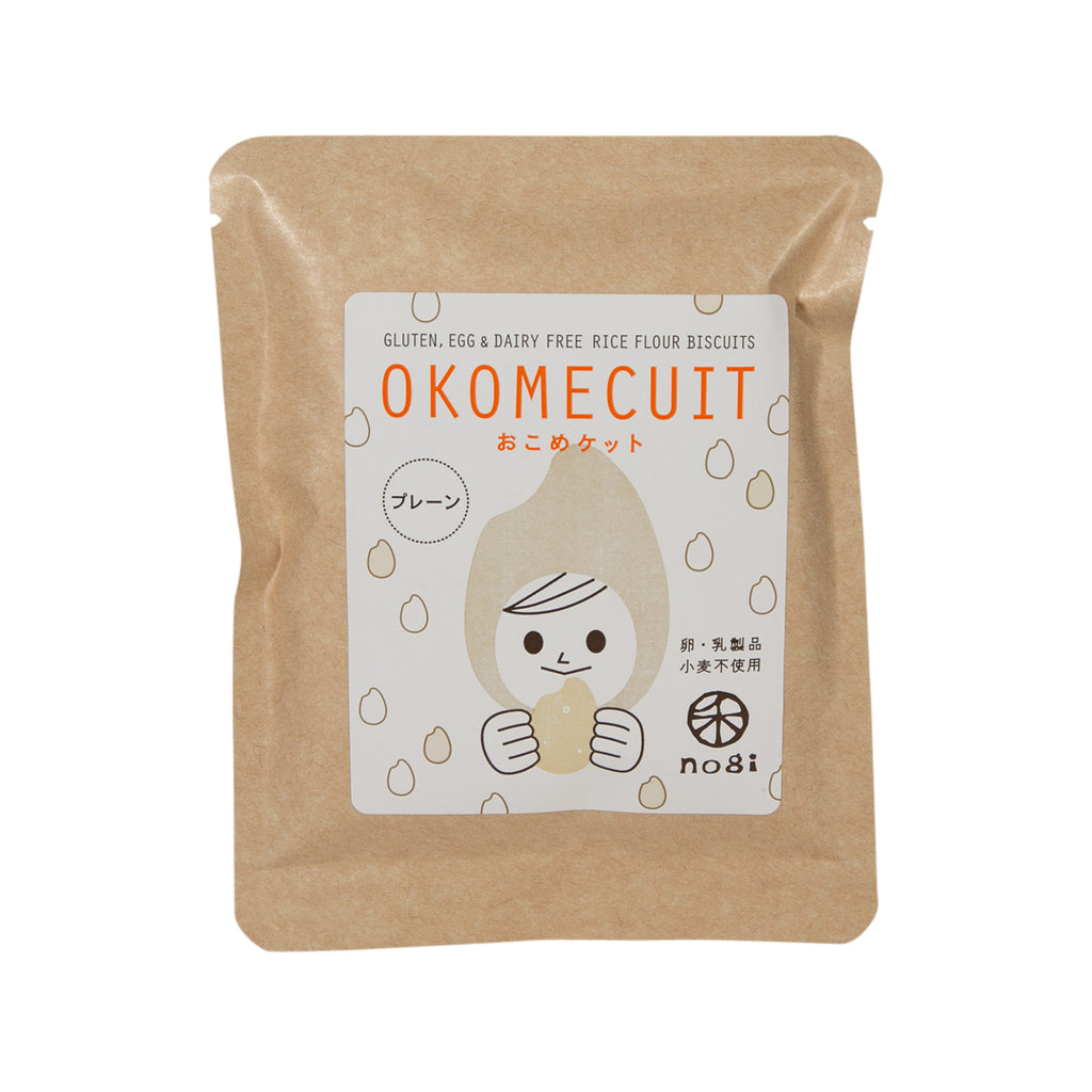 NOGI Okomecuit Rice Biscuit - Plain  (5pcs)